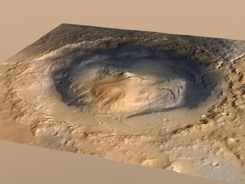 Mount Sharp, inside Gale Crater
