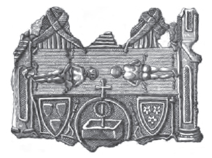 pilgrim badge relating to shroud of turin