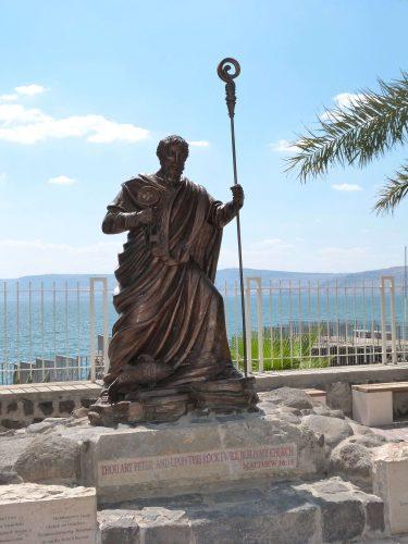 st. peter statue in capernaum