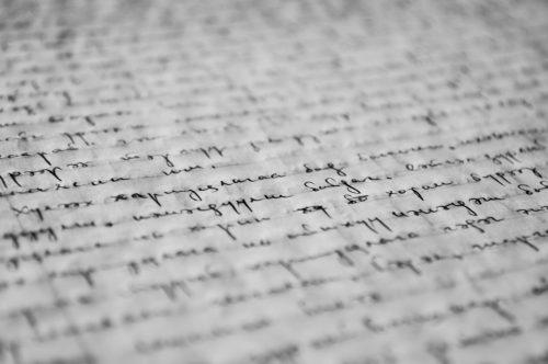 handwritten manuscript on white paper