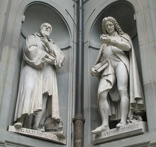 statues of two scientists