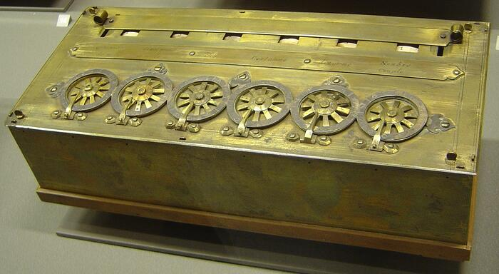 Pascaline, an early calculator. Creative Commons