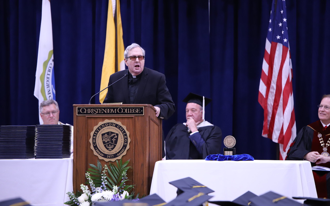 Christendom College Transcribes Fr. Spitzer's Graduation Commencement