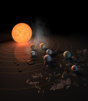 NASA Briefs on Discovery of Seven Planets Orbiting Red Dwarf